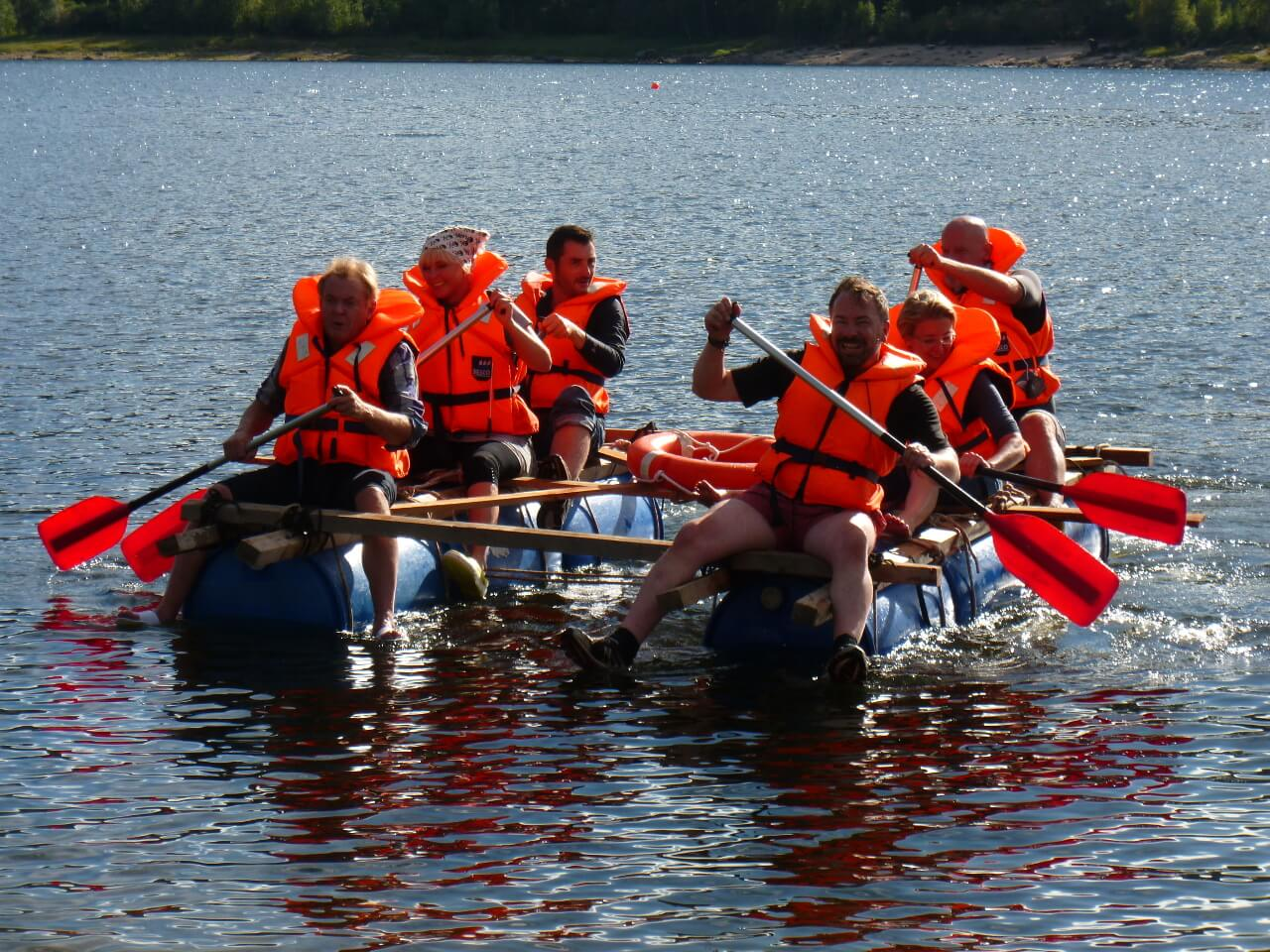 Raft Building In SW Germany